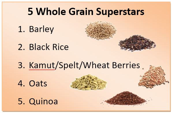 5 Whole Grain Superstars